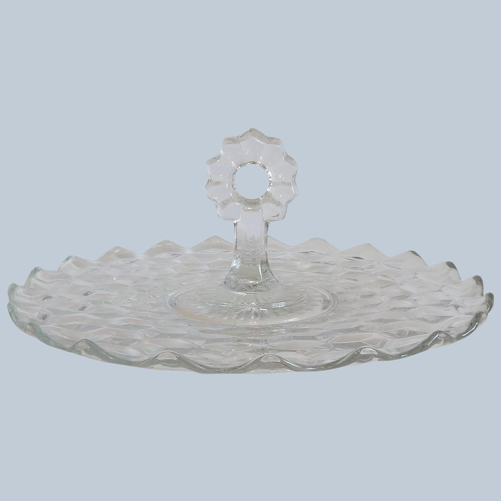 2056 Pattern FOSTORIA American  No Vintage SANDWICH PLATE 10 58 inches Crystal Clear