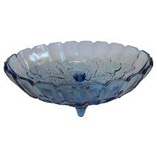 Indiana Glass Garland Blue Centerpiece Bowl