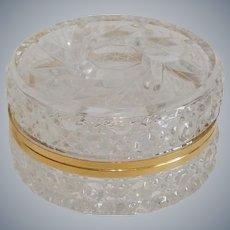 Vanity Dresser Crystal Trinket Jar