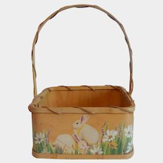 Hand Crafted Wooden Easter Basket