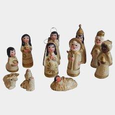 Miniature Mexican 12 Piece Nativity Scene
