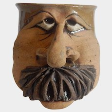 Stoneware Character Face Mug