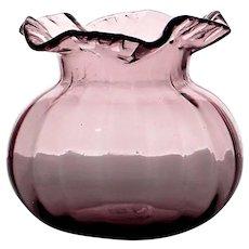 Blenko Vintage Small Purple Vase