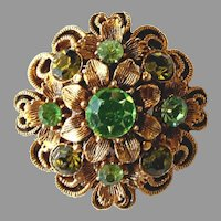 Vintage Signed Florenza Dainty Little Rhinestone Pin