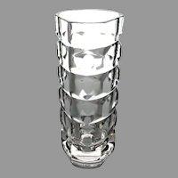 Unique Signed French Crystal Vase