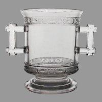 "Doyle's EAPG Flint Glass Spooner ""Two Bands"" c. 1880"
