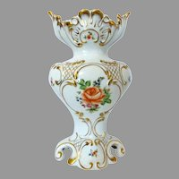Large Herend Signed Vase Lots of Gold Trim, Rococo Style, c. 1965 Fabulous Home Decor