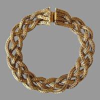Vintage Braided Brass Bracelet