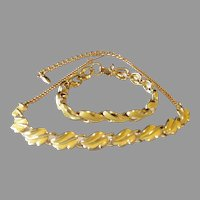 Signed Coro Necklace with Matching Bracelet, Perfect for Spring