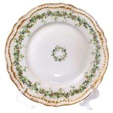 Rare Antique Haviland Schleiger #849 Set of Four Signed Dinner Plates