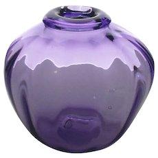 Gorgeous Blenko Vintage Blown Glass Purple Vase, c.1966