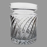 Brilliant 3 1/2 Pound Cut Crystal Vase