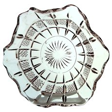 """EAPG US Glass """"Banded Portland"""" AKA """"Virginia"""" Set of Four Ruffled Berry Dishes, c.1901"""