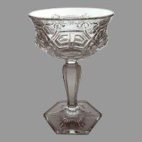 "EAPG US Glass ""Reverse 44"" AKA ""Athenia"" Tall Sherbet or Champagne Glass"