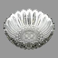 "EAPG Duncan Miller ""Mardi Gras"" Pressed Glass Serving Bowl, c. 1894 - 1920"