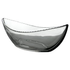 """Rare Heisey Pressed Pattern Glass Mystery 14"""" Boat Shaped Bowl"""
