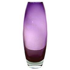 """Krosno, Poland Designer Series by Svend Jensen Vintage """"Bullet"""" Vase"""