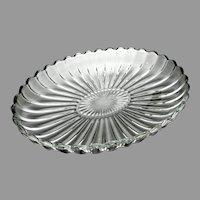 "Heisey Blown Glass ""Crystolite"" Pattern Shallow Bowl, c. 1937 - 1957"