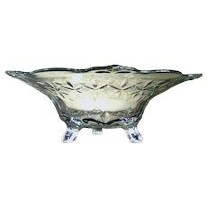 """Indiana Large Cut Glass Console Bowl """"Double Fleur De Lis"""", c. Prior to 1948"""