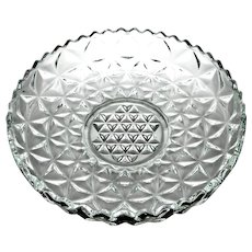 """Indiana Depression Glass """"Monticello"""" Pattern Float Bowl"""