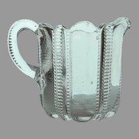 "EAPG US Glass ""Panelled Zipper"" aka ""Iowa"" Creamer, c. Prior to 1900"