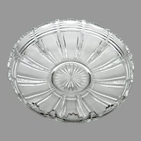 """EAPG Bryce Higbee Glass Company """"Zipper"""" aka """"Iowa"""" Float Bowl,c. 1899-1907"""