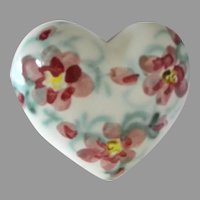 California Clouds Pottery 2001 Decorative Hand Made Heart Box
