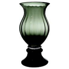 Wayne Husted for Blenko Art Glass 1950's Rare Inner Optical Patterned Large Urn Vase