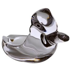 Vintage 1950's Duncan Miller Crystal Pall Mall Pattern Duck Ashtray