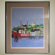 Eric Holch-Wharves at Dawn-Nantucket Art- Silkscreen Proof