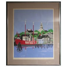 Eric Holch-Wharves at Dawn-Nantucket Art- Silkscreen Proof