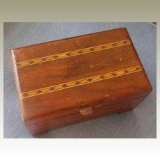 Wooden Pencil Desk Box-Maple Inlaid Design