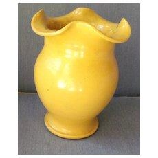 Yellow Pottery Vase
