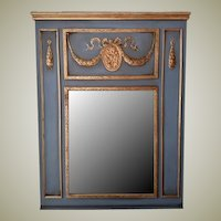 Trumeau Mirror in Wythe Blue