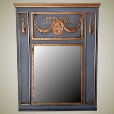 Trumeau Mirror in Wythe Blue