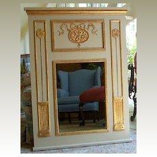 Trumeau Mirror with medallion