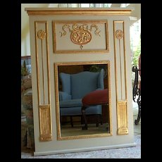 Trumeau Mirror with medallion