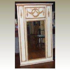 Mirror Floor Mirror-Trumeau Style-Gold Trim Onlay