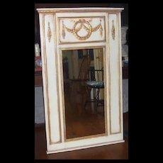 Mirror-Trumeau Style-Gold Trim Onlay