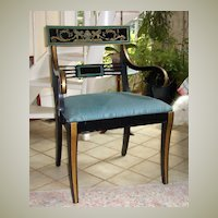 Side Chair Empire Handpainted