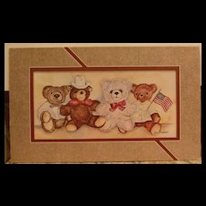 Bears Lithograph-Matted