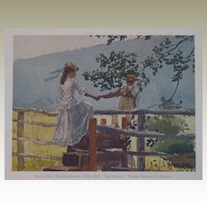 Winslow Homer-On the Stile