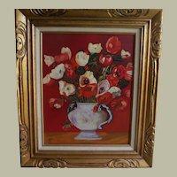 Oil Painting Flowers Framed