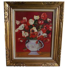 Oil Painting Flowers Framed