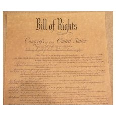 Bill of Rights-Congress-Parchment Art-History Document-Printing