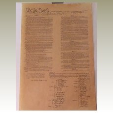 Constitution of the United States-History Document-Parchment Art-Congress