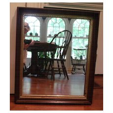 Antique Mahogany Victorian Mirror