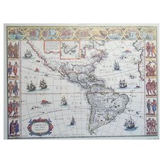 Old Map of America Nova Tabula