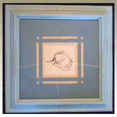 Original Pen and Ink Drawing of Fish