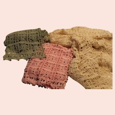 Crochet Silk Scarves Beaded